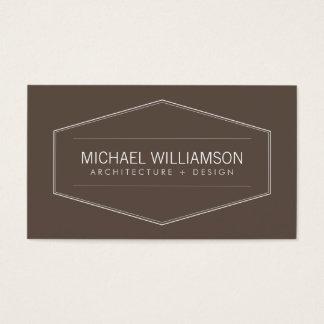 Cartes De Visite Emblème moderne vintage sur l'architecte de Brown,