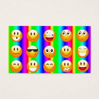 Cartes De Visite emoji d'arc-en-ciel