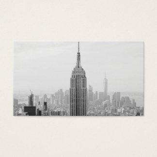 Cartes De Visite Empire State Building noir et blanc Manhattan