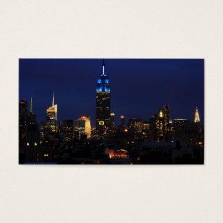 Cartes De Visite Empire State Building tout dans le bleu, horizon