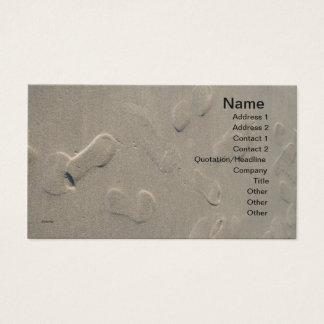Cartes De Visite Empreintes de pas sur la plage