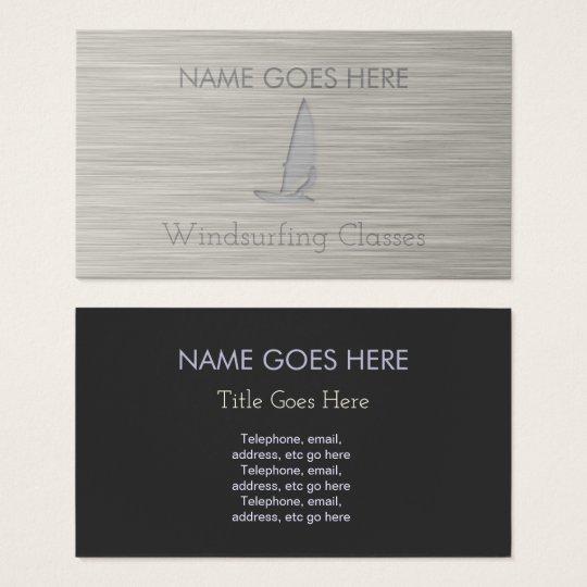 """Cartes de visite """"en acier"""" de planche à voile"""