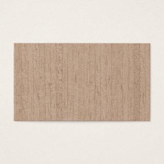 Cartes de visite en bois de grain