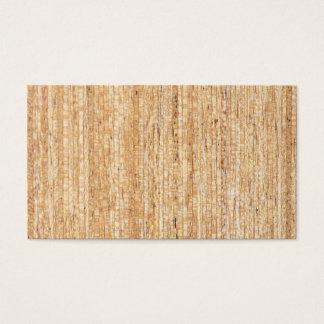 Cartes de visite en bois vintages de grain