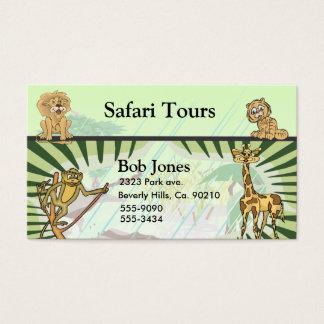 Cartes De Visite Ensemble de baby shower de jungle de rayures de