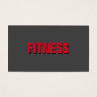 Cartes De Visite Entraîneur personnel exclusif unique rouge gris