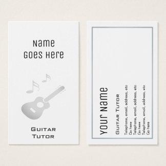 """Cartes de visite """"essentiels"""" de tuteur de guitare"""
