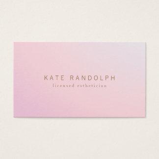 Cartes De Visite Esthetician rose simple d'Ombre de lavande