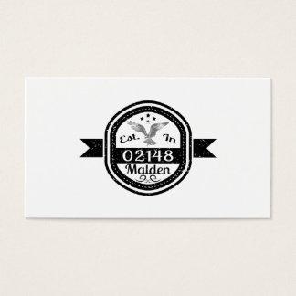 Cartes De Visite Établi dans 02148 Malden