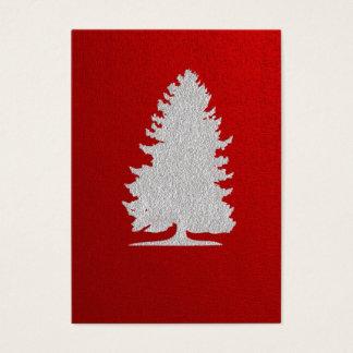 Cartes De Visite Étiquette de cadeau de Noël de silhouette de tba