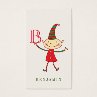 Cartes De Visite Étiquette mignonne magique de cadeau des vacances