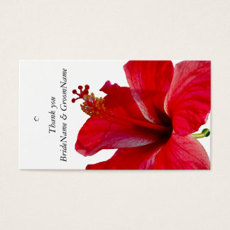 Cartes De Visite Étiquette rouge de cadeau de Merci de ketmie