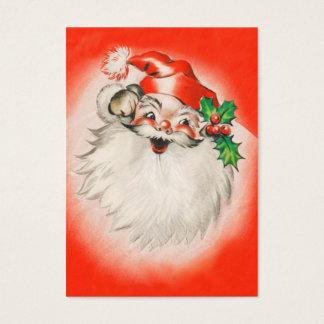 Cartes De Visite Étiquettes mignonnes de nom de Noël de Père Noël