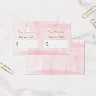 Cartes De Visite Étiquettes roses chics simples de coup de ventes