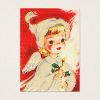 Cartes De Visite Étiquettes vintages de nom d'ange de Noël