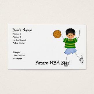 Cartes De Visite Étoile de NBA d'avenir ! Télécartes de maman