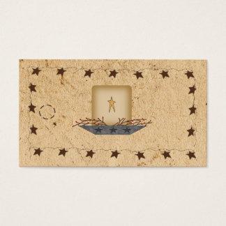 Cartes De Visite Étoiles et étiquette rouillées de coup de bougie