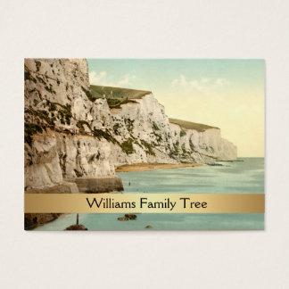 Cartes De Visite Falaises blanches arbre généalogique de Douvres,