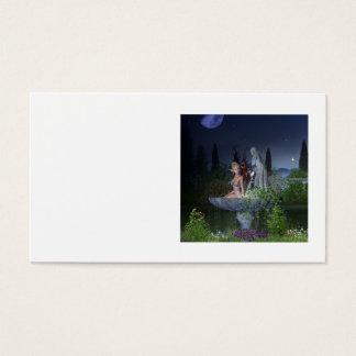 Cartes De Visite Fée de jardin de nuit