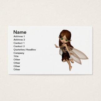 Cartes De Visite Fée mignonne de Toon dans la robe de fleur de