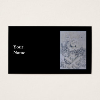 Cartes De Visite Fée. Sur le noir