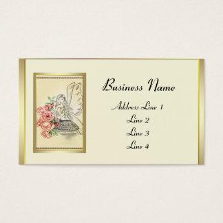 Cartes De Visite Fée vintage de fleur