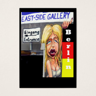 Cartes De Visite Femme blonde, mur de Berlin, Galerie de côté est