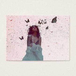 Cartes De Visite Femme de papillon