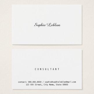 Cartes De Visite femme élégante minimaliste d'affaires