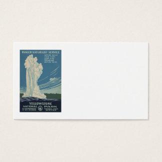Cartes De Visite Fidèle de parc national de Yellowstone vieux
