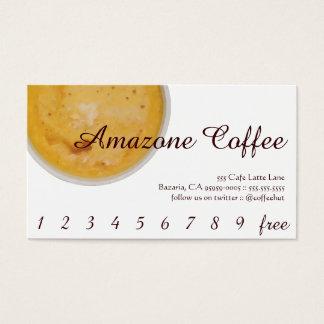 Cartes De Visite Fidélité/carte perforée de boissons de café