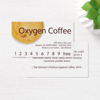 Cartes De Visite Fidélité/carte perforée de boissons de café de