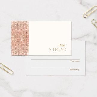 Cartes De Visite Fidélité de cuivre de client de référence de salon