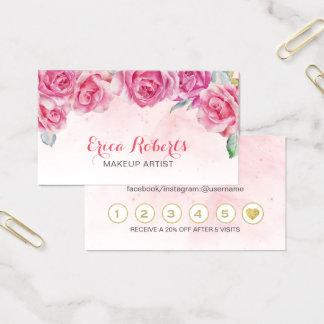 Cartes De Visite Fidélité florale de salon d'aquarelle de