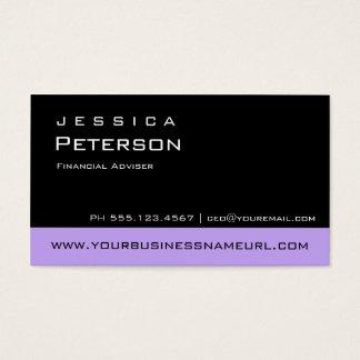 Cartes de visite financiers pourpres de conseiller