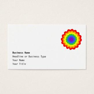Cartes De Visite Fleur colorée lumineuse dans des couleurs