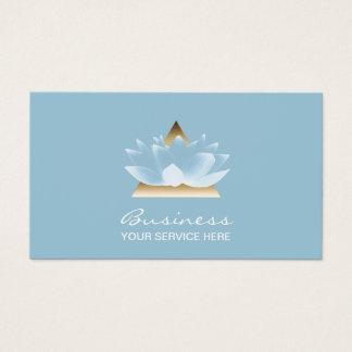 Cartes De Visite Fleur de Lotus bleu élégante de thérapie de