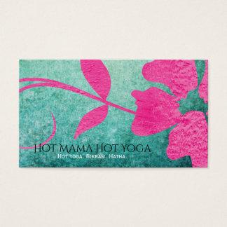 Cartes De Visite Fleur grunge turquoise géniale de roses indien
