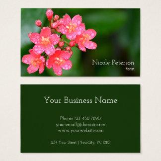 Cartes De Visite Fleur rose - fleuriste