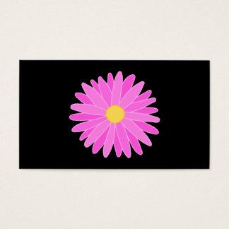 Cartes De Visite Fleur rose lumineuse