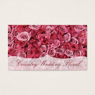 Cartes De Visite Fleuriste rose romantique de roses