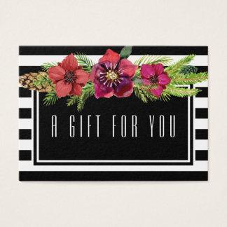 Cartes De Visite Fleurs et certificat-prime de vacances de rayures