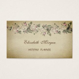 Cartes De Visite Fleurs minables chics vintages