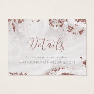 Cartes De Visite Flocons de neige roses d'or de Faux d'hiver