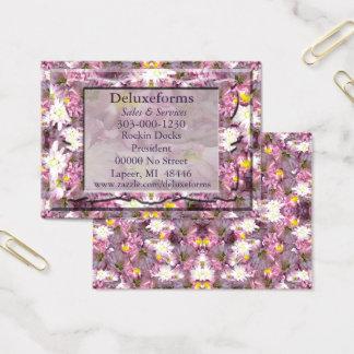 Cartes De Visite Floral mauve victorien