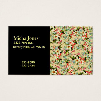 Cartes De Visite Floral romantique de ressort vintage