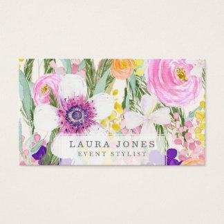 Cartes de visite floraux de styliste de fleuriste