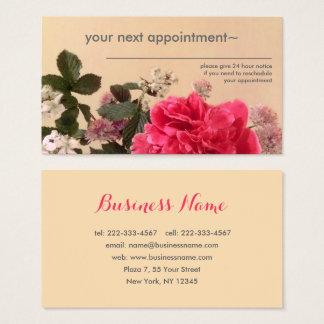 Cartes de visite floraux élégants de rendez-vous