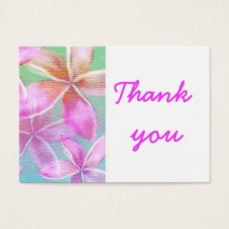 Cartes De Visite floraux roses vous remercient