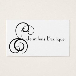 Cartes De Visite Flourish élégant noir et blanc